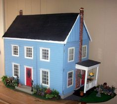 Cardboard Dollhouse Patterns Free | am as enchanted with my dollhouse now as I was more than 20 years ...