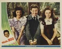 "Peggy Ryan,  Donald O'Connor, & Gloria Jean in ""Mister Big"" (1943)"
