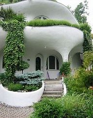 """BBC Boracay says: """" We love the organic shape of the house - even more we love the combination with grass and plants..."""""""