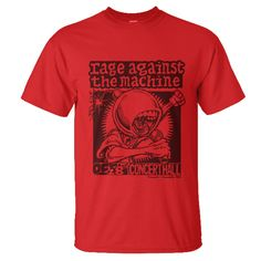 RAGE AGAINST THE MACHINE - LIVE @ CONCERT HALL CANADA, 1993 • Code: RATMCH93 • Print on Red Gildan ultra cotton (S. M. L. XL.) • Price IDR 150.000,-