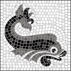 Mosaic tile motif