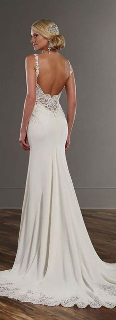 Martina Liana Spring 2016 Wedding Dress / http://www.himisspuff.com/open-back-wedding-dresses/9/