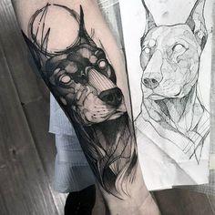 60 Doberman Tattoo Designs For Men