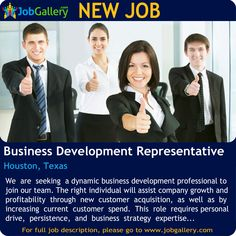 SEEKING A BUSINESS DEVELOPMENT REPRESENTATIVE in #Houston #Texas  #Job #NewJob #Jobs #Trending #business #SalesJobs #JobOpportunity #businessdevelopment #texasjobs #houstonjobs #jobgallery