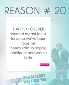 If you are looking for 365 reasons to tell your special someone why you love him/her, your wait is over. Browse through these romantic reasons and dedicate these to the one who stole your heart. I Love You So Much Quotes, Reasons Why I Love You, Sweet Love Quotes, Beautiful Love Quotes, My True Love, Love Yourself Quotes, Love Can, Love Quotes For Him, I Love Him
