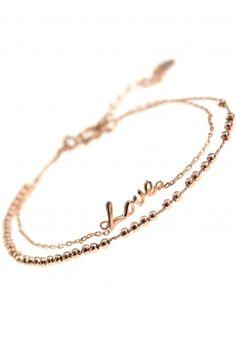 LOVE Armband Sterling Silber rosé vergoldet