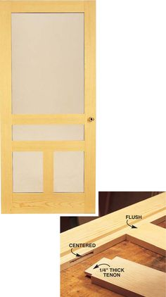 Wooden Storm Door Versatile design keeps winter winds out and lets summer breezes in. by Tim Johnson A storm door doesn't just keep out the wind and rain. It's the focal point of your home's entryway; the first thing guests see when they come to visit. An attractive and durable storm door is a woodworking project each member of your family will use every day. To guarantee a long service …