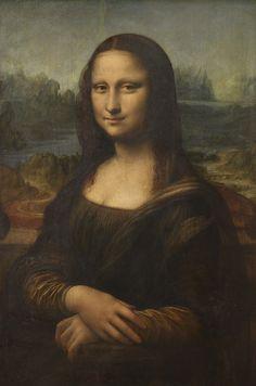 Mona Lisa..by Leonardo da vince,inside the Louvre museum..