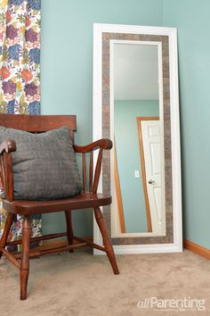 How to Upcycle a boring mirror