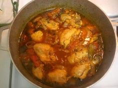 Pollo guisado recipe dominican puerto rican stewed chicken this delicious dish of chicken stewed with vegetables is an indispensable part of dominican cooking along with arroz con habichuelas red beans and rice forumfinder Choice Image