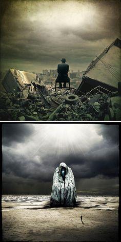post apocalyptic world The Poetic yet Terrifying Post Apocalyptic Art of Christophe Dessaigne