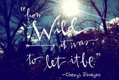 HOW WILD it was to let it be - Google Search Wild Quotes, Me Quotes, Some Good Quotes, Quotes To Live By, Wild Cheryl Strayed, Wild Book, Word Of Advice, Perfection Quotes, Truth Hurts