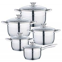 Klausberg 7363 pannenset – 10 delig – RVS – Alle warmtebronnen | Blokker Sugar Bowl, Bowl Set, Jar, Kitchen, Food, Home Decor, Products, Cooking, Decoration Home