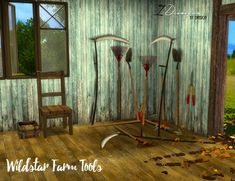 Sims 4 Designs: Wildstar Farm Tools converted • Sims 4 Downloads