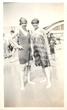 Vintage Photo BAthing Beauty Gals at Beach Boardwalk. $5.50, via Etsy.