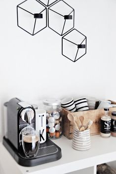 Menu POV Candle holders spotted in stylish coffee corner in Scandi style from Only Deco Love
