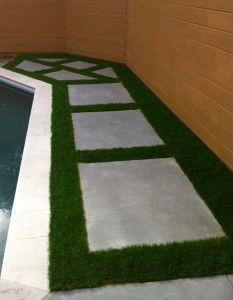 Synthetic Grass backyard path in Richardson | Texas Elite Landscaping