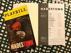 [SALE!] $39.99 HADESTOWN Broadway & Off-Broadway PLAYBILLS HIGHLY COLLECTIBLE! Original Casts! #Movie_Posters_for_Sale #Theater_Posters_for_Sale #Theatre_Memorabilia_for_Sale Movie Posters For Sale, Sale Poster, Originals Cast, Theater, Broadway, It Cast, Movies, Theatre, Films