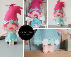 Poppy Troll Doll PDF Felt Pattern by CutestVoodoo on Etsy