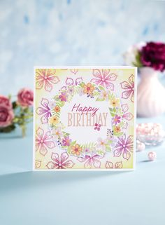 Chloes Creative Cards Craft, Cardmaking and Papercraft Supplies Chloes Creative Cards, Stamps By Chloe, Happy Birthday Woman, Create And Craft Tv, Cardmaking And Papercraft, Making Greeting Cards, Crafters Companion, Clear Stamps, Hobbies And Crafts