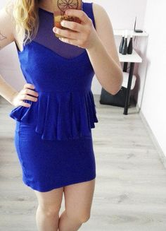 Kup mój przedmiot na #vintedpl http://www.vinted.pl/damska-odziez/krotkie-sukienki/16819622-chabrowa-sukienka-z-odkrytymi-plecami