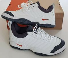 a4c62aeb32cc OG 2004 NIKE AIR OSCILLATE CLAY SAMPRAS TENNIS SNEAKERS SUPREME COURT DS VTG   Nike  TennisShoes