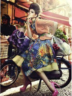 Valeriane Le Moie by Signe Vilstrup for Vanity Fair Italia April 2012 as Le Leggi del Mercato