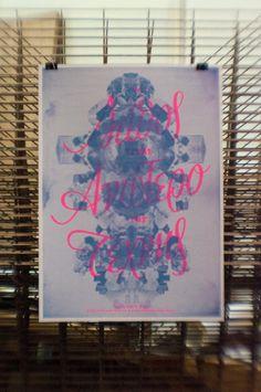 Felt Collective / Silkscreen Poster by tind , via Behance