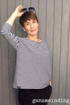 Mandy Boat Tee von Tessuti patterns genäht von ganzmeinding