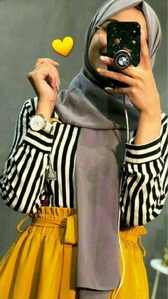 Modern Hijab Fashion, Muslim Women Fashion, Hijab Fashion Inspiration, Islamic Fashion, Abaya Fashion, Fashion Outfits, Korean Fashion, Hijab Style Dress, Casual Hijab Outfit