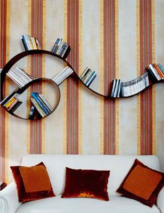Buy the flexible Bookworm Wall Shelf by Kartell at Smart Furniture. Designed by Ron Arad, Bookworm is the most creative wall shelf around. Ron Arad, Short Bookshelf, Bookshelves, Modern Bookshelf, Bookshelf Ideas, Shelving Ideas, Bookshelf Design, Book Storage, Art Nouveau