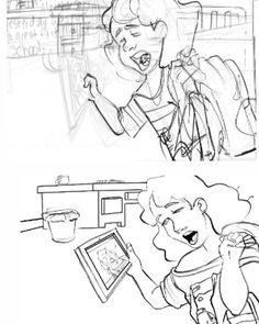 "Working on ""Penelope & Monica"" webcomic pages. #makingcomics #makecomics #comicartist #doodles #cartoon #children #childhood #pencil #lineart #characterdesign #visualdevelopment #sketchbook #rough #design #digitalart"