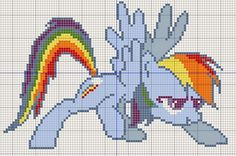 Buzy Bobbins: Rainbow dash take off - My Little Pony cross stitch design