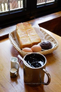 Morning Set (with Red Bean Paste), Komeda Coffee Shop