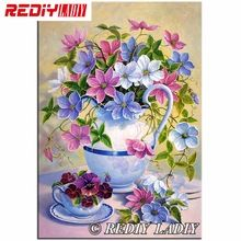 High Quality 5D DIY Painting, Beaded Diamond Mosaic, Diamond Embroidery Flowers Square Drill Full Embroidery (China)