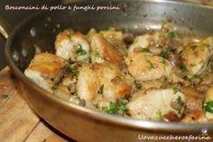 Bocconcini di pollo e funghi porcini | ricetta facile e veloce