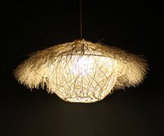White Rattan Pendant Lighting-Bird Cage Pendant Lights-Bird