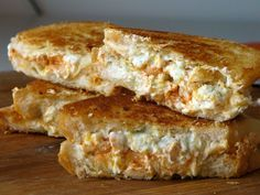Buffalo blue cheese grilled cheese!