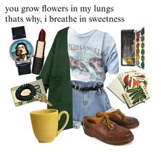 ·you grow flowers in my lungs· by that-one-dreamer on Polyvore featuring polyvore Dr. Martens In God We Trust Salvador Dali Mimco Pier 1 Imports Beekman 1802 fashion style clothing