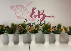 Getting ready for floral arrangements classes at EB Flower Studio! Floral Arrangement Classes, Floral Arrangements, Dish Garden, Flower Studio, Funeral, Indoor Plants, Special Events, Orchids, Planter Pots