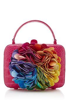 Floral Kaleidoscope Pink Clutch Bag by Nancy Gonzalez Pink Handbags, Fashion Handbags, Leather Handbags, Pink Clutch, Clutch Bag, Nancy Gonzalez, Luxury Bags, Beautiful Bags, Small Bags