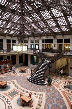 Ellicott Square Building - Buffalo, NY Wedding Venue, glass roof.
