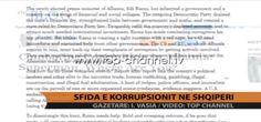 Sfida e korrupsionit në Shqipëri -  http://www.top-channel.tv/artikull.php?id=261444