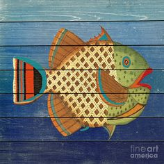 Nautical Painting - Fanciful Sea Creatures-jp3822 by Jean Plout