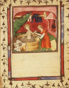 About bathing in Medieval times. (Medievalists website has so much information)
