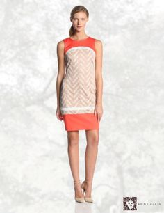 Anne Klein Women's Zig Zag Eyelet Shift Dress