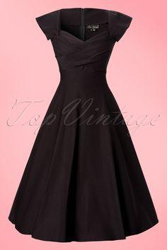 Das50s Mad Men swing dress black vonStop Staring! Dies ist ein klassisches 1950s Stil Mad Men inspiriertes Kleid.Elegantes Kleid mit einer besonderen Halslinie, die dem Kleid das gewisse Etwas verleiht. Das Kleid hat süße kleine angerüschte Ärmel, ein figurbetontes Top und einen tollen auslaufenden Tellerrock. In diesem Kleid bekommen Sie eine echte Wespentaille! Das Kleid ist hergestellt aus topqualitativem Millennium Bengalin: ein dicker, luxuriöser Sto...