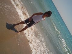 I am on the beach