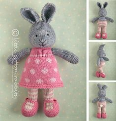 Ravelry: bunny girl in a dotty dress pattern by Julie Williams