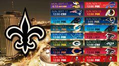 New Orleans Saints 2017 Schedule Desktop Wallpaper